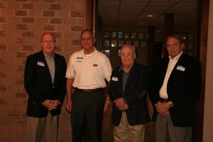 Tom Butcher, James Keitz, Richard Feasel, Jim Hromas, Founders Day 4/21/12 A.B. Alcott Award winners.